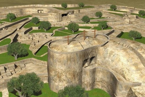 Κάτι από... Αρχαίους Έλληνες: Έτσι ήταν ο Τάφος Του Χριστού και ο βράχος Του Γολγοθά το 33 Μ.Χ.