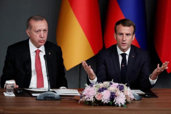 Μακρόν κατά Ερντογάν - Eπιθετική η συμπεριφορά της Τουρκίας σε Κύπρο και Ελλάδα