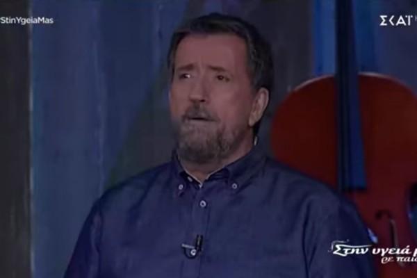 «Χτύπησαν» τον Σπύρο Παπαδόπουλο - Σοκ με τον παρουσιαστή