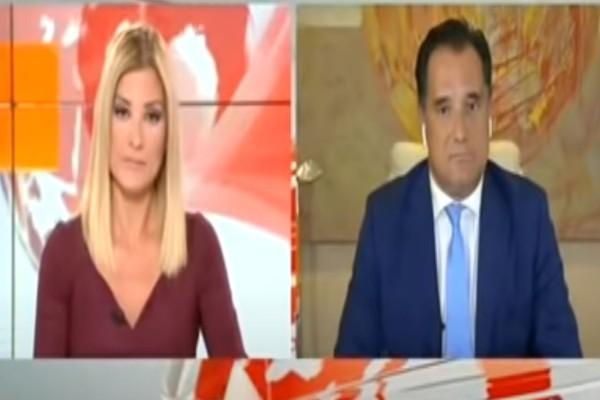 Ροντέο στο Mega - Πλακώθηκαν άσχημα Ράνια Τζίμα - Άδωνις Γεωργιάδης: