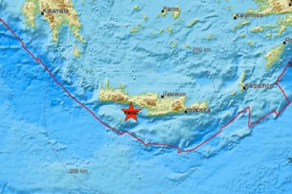 Σεισμός 3,8 Ρίχτερ στη Κρήτη
