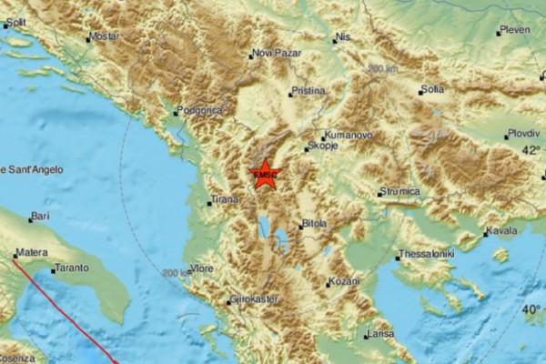 Σεισμός 4,8 Ρίχτερ στα Σκόπια