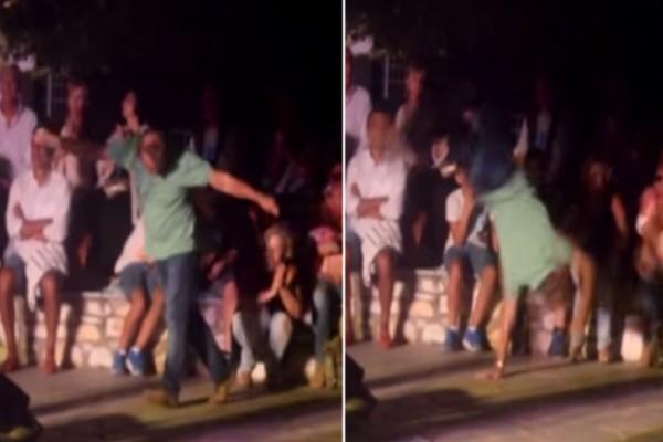 65χρονος άντρας χορεύει μερακλίδικα ζεϊμπέκικο με κωλοτούμπες σε συναυλία και ξεσηκώνει τα πλήθη