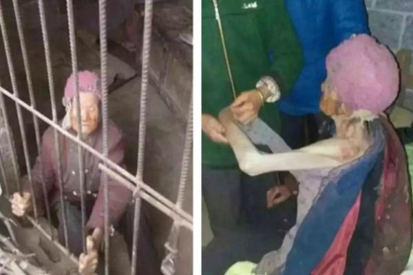 92χρονη γιαγιά ζούσε για χρόνια σε βρώμικο κλουβί όπου την είχαν κλειδώσει ο γιος της και η νύφη της!