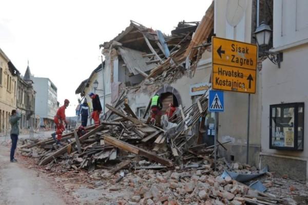 Κροατία: Δύο ισχυροί μετασεισμοί σήμερα - Ψάχνουν επιζώντες στα συντρίμμια