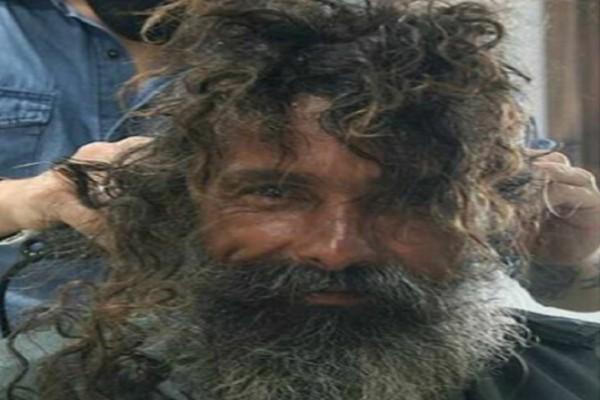 Ολική «μεταμόρφωση» άστεγου άντρα - Ξαναβρήκε την οικογένειά του 10 χρόνια μετά (photo-video)