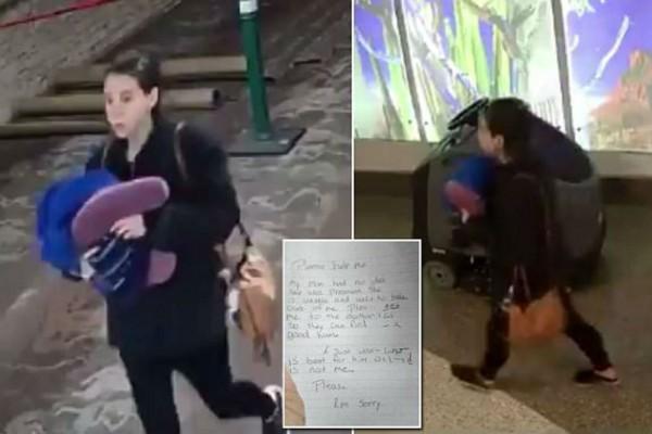 Βίντεο σοκ από κρυφή κάμερα - Μητέρα ανοίγει την τσάντα της και πετάει στην τουαλέτα το μωρό της (Video)