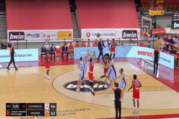 Euroleague: Πισωγύρισμα για Ολυμπιακό - Ήττα από την Βαλένθια στο ΣΕΦ (Video)