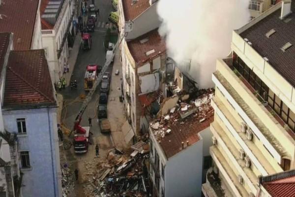 Τραγωδία στην Πορτογαλία: Κατέρρευσε πολυκατοικία στη Λισαβόνα - Αρκετοί είναι οι τραυματίες