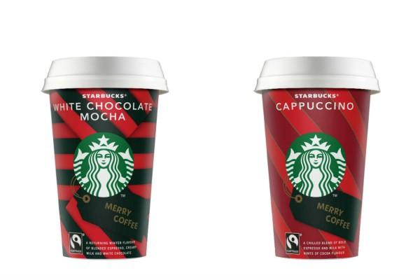 Τα αγαπημένα ροφήματα on the go των Starbucks White Chocolate Mocha & Cappuccino «στολίζονται» και υποδέχονται τα Χριστούγεννα!