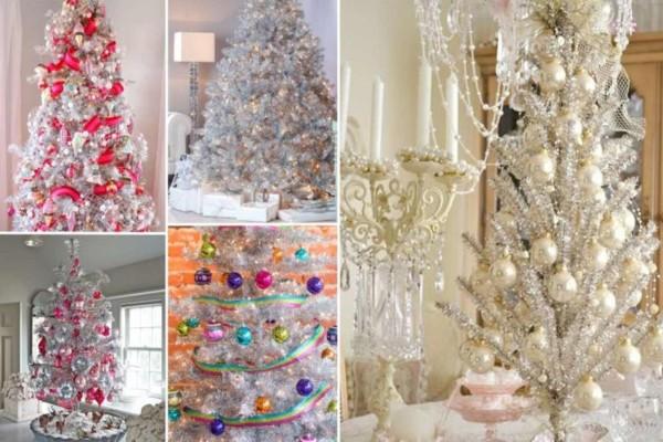 Λάμψε στα φετινά Χριστούγεννα - Ιδέες για ασημένια Χριστουγεννιάτικα δέντρα
