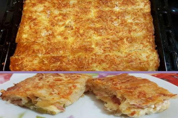 Λαχταριστή πίτσα με φύλλο κρούστας στο πι και φι