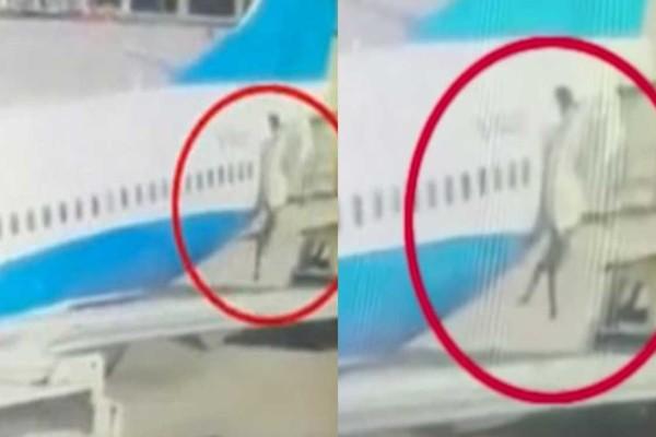 Σοκ: Αεροσυνοδός πέφτει στο έδαφος από την πόρτα αεροπλάνου