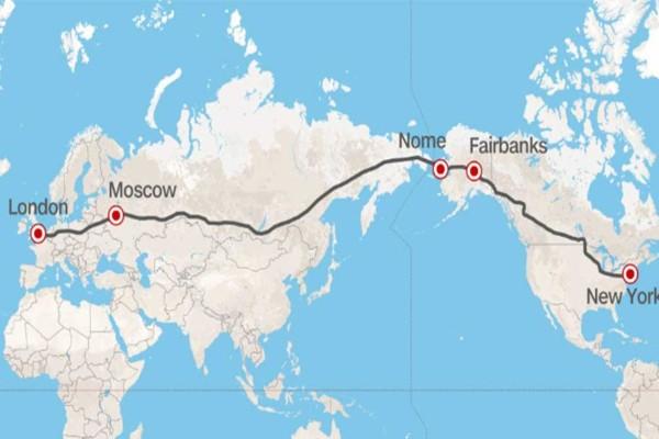 H Ρωσία ετοιμάζει αυτοκινητόδρομο που θα ενώνει το Λονδίνο με τη Νέα Υόρκη