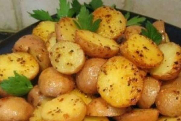 Baby πατάτες λεμονάτες στο φούρνο