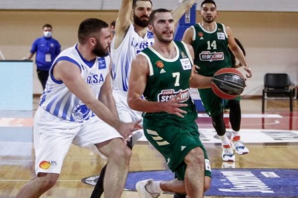 Basket League: «Καθάρισε» στη Λάρισα ο Παναθηναϊκός με σούπερ Νέντοβιτς και Μήτογλου (Video)