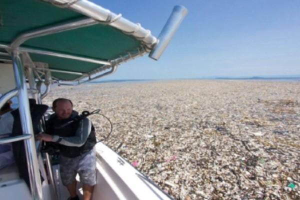 Δραματικές εικόνες δείχνουν πώς μαζεύονται τα πλαστικά μπουκάλια και τα σκουπίδια στους ωκεανούς