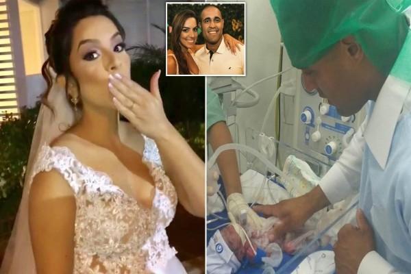 30χρονη έγκυος νύφη πέθανε λίγα λεπτά πριν το γάμο - Η σπαρακτική εικόνα του γαμπρού με το μωρό «τσακίζει» κόκαλα (Video)
