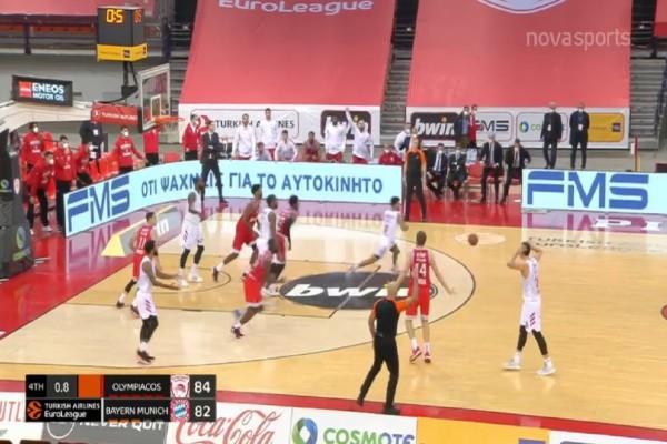 Euroleague: Νίκη-θρίλερ για τον Ολυμπιακό κόντρα στην Μπάγερν (Video)