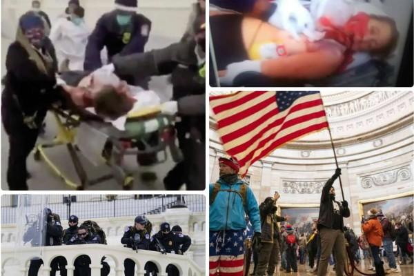 Εισβολή στο Καπιτώλιο: Τέσσερις οι νεκροί στις ΗΠΑ - Σοκάρει η εικόνα της νεκρής γυναίκας που δέχτηκε σφαίρα στο στήθος