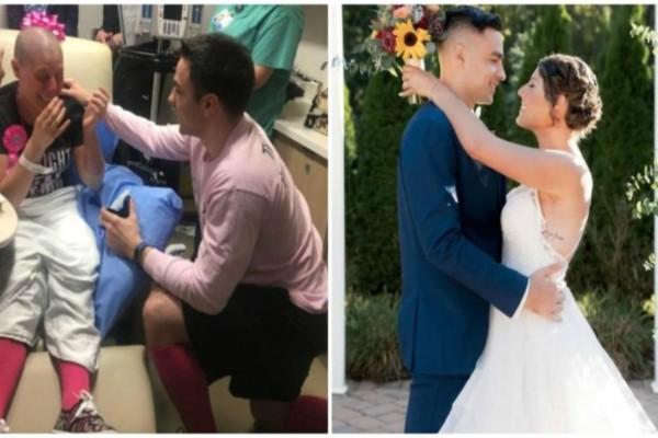 Εκείνη του ζήτησε να χωρίσουν επειδή διαγνώστηκε με καρκίνο του μαστού και εκείνος της έκανε πρόταση γάμου