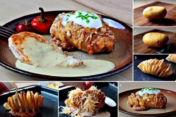 Θεϊκές πατάτες ακορντεόν που θα σας τρέχουν τα σάλια!