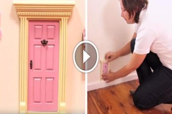 Έβαλε μια μικροσκοπική, ροζ πορτούλα στο δωμάτιο της κόρης της - Δείτε για ποιο λόγο