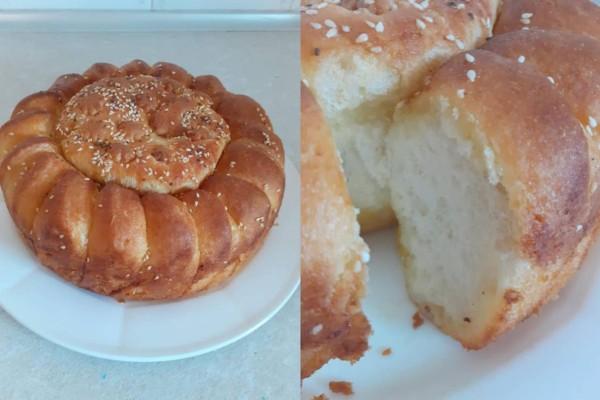 Αφράτο ψωμί με βούτυρο (Video)