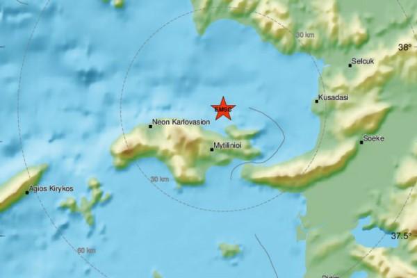 Σεισμός 3,5 Ρίχτερ στη Σάμο