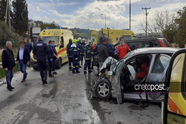 Κρήτη: Σοβαρό τροχαίο ατύχημα με πέντε τραυματίες