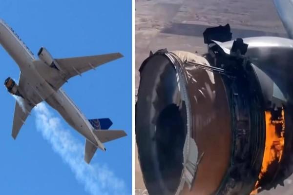 ΗΠΑ: Τρόμος εν πτήσει για 231 επιβάτες - Κινητήρας Boeing 777 τυλίχτηκε στις φλόγες (Video)