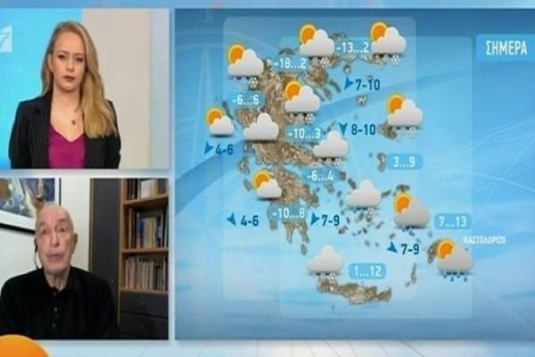 Προειδοποίηση Τάσου Αρνιακού: Χιόνια μέχρι το βράδυ στην Αττική! (Video)