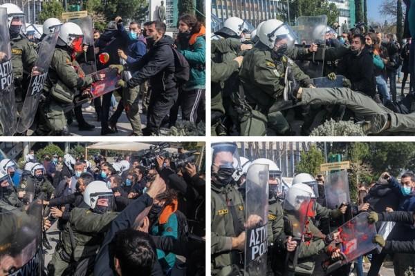 Θεσσαλονίκη: Επεισόδια και χημικά έξω από το ΑΠΘ (Video)