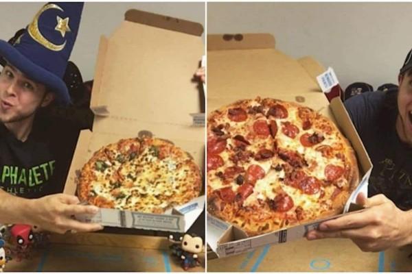 Για έναν ολόκληρο χρόνο έτρωγε μια πίτσα γίγας κάθε μέρα - Δεν φαντάζεστε τι έπαθε!