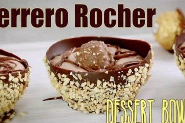 Σοκολατένιο μπολάκι fererro που θα σας ξετρελάνει (Video)