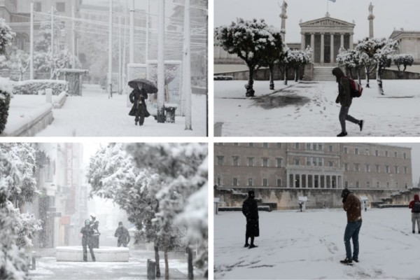 Κακοκαιρία «Μήδεια»: Οδοιπορικό στην χιονισμένη Αθήνα - Απολαύστε την πρωτεύουσα «ντυμένη» στα λευκά (photos)