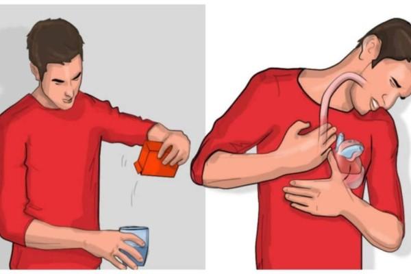 Βάλε λίγη σόδα σε ένα ποτήρι με νερό και πιες το - Αν ρευτείς μέσα στα επόμενα 5 λεπτά, αυτό σημαίνει...