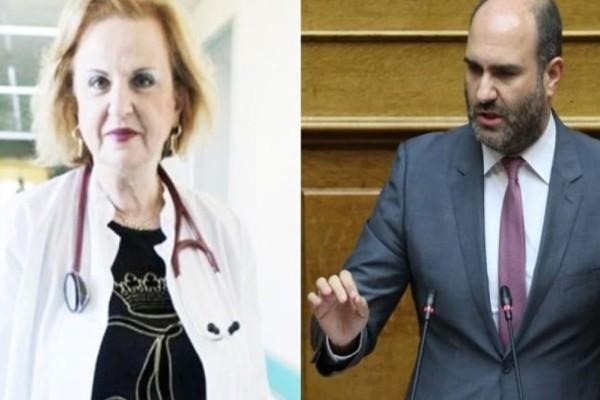 «Σφάχτηκαν» στον αέρα Μαρκόπουλος - Παγώνη: «Κάνατε την πανδημία, lifestyle» - «Δεν με απασχολεί η άποψή σου» (Video)