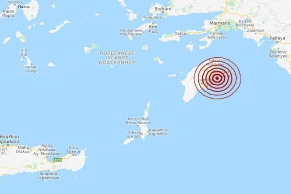 Σεισμός 4 Ρίχτερ στη Ρόδο