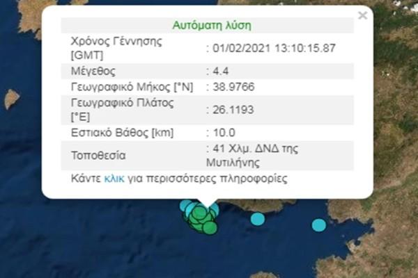 Χωρίς τέλος οι σεισμοί στη Λέσβο
