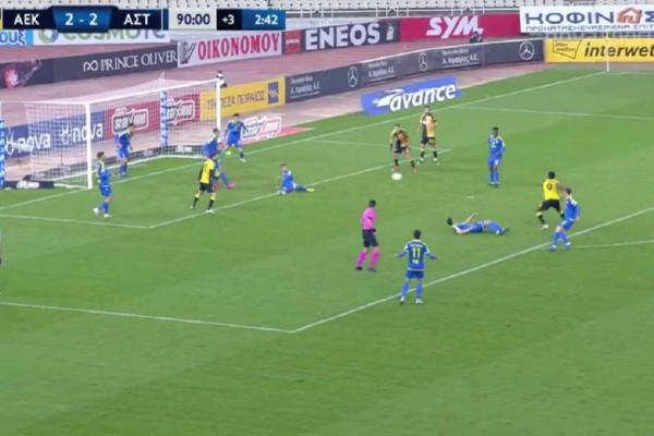 Super League: Θρίλερ στο ΟΑΚΑ! Ο Σιμάνσκι έσωσε την ΑΕΚ κόντρα στον Αστέρα (Video)