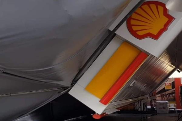 Κακοκαιρία Μήδεια: Κατέρρευσε βενζινάδικο από το χιόνι στο Χαϊδάρι (video)