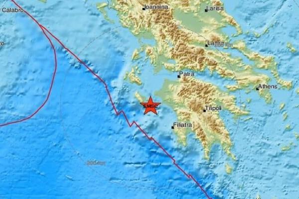 Σεισμός 3,4 Ρίχτερ στη Ζάκυνθο