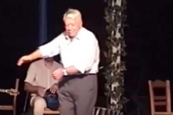 90χρονος παππούς χορεύει ζεϊμπέκικο και