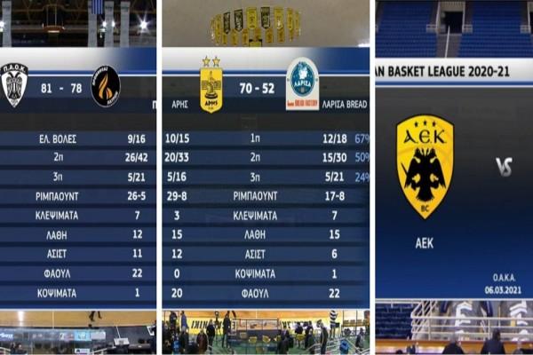 Basket League: Με απίστευτο Τέρνερ «πήρε» τον Προμηθέα ο ΠΑΟΚ - Εύκολα ΑΕΚ και Άρης (Video)