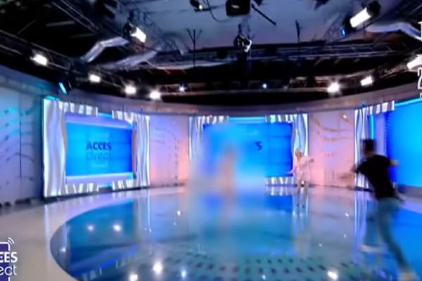 Πανικός σε εκπομπή: Μαινόμενη τσίτσιδι γυναίκα πέταξε πέτρα σε παρουσιάστρια εκπομπής on air! (Video)
