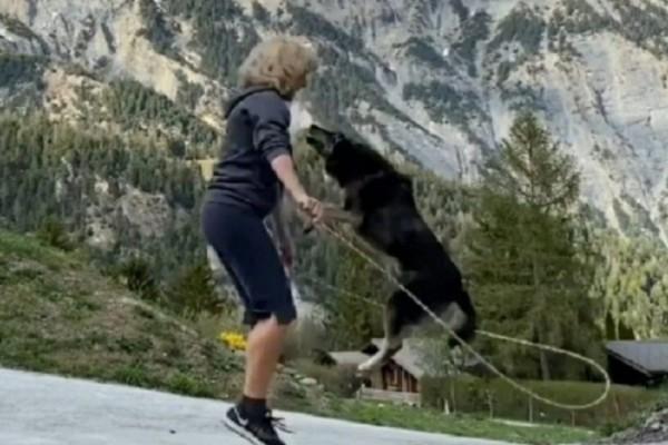Ένας σκύλος και το αφεντικό του γυμνάζονται καθημερινά - Η άσκηση όμως που κάνουν μαζί θα σας εκπλήξει (video)