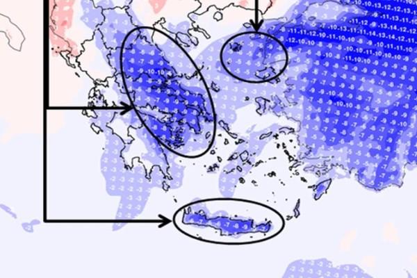 Κακοκαιρία: Συνεχίζονται οι βροχές, έρχονται και χιόνια - Πτώση θερμοκρασίας μέχρι και 10 βαθμούς