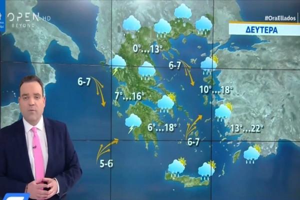 Κλέαρχος Μαρουσάκης: 25η Μαρτίου με χιόνια στην Αττική! (Video)