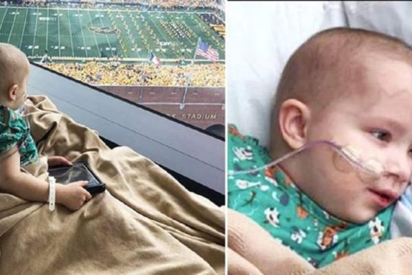 Άρρωστο παιδί σε νοσοκομείο πέταξε από τη χαρά του όταν 70.000 φίλαθλοι γύρισαν προς το μέρος του και το χαιρέτησαν (Video)